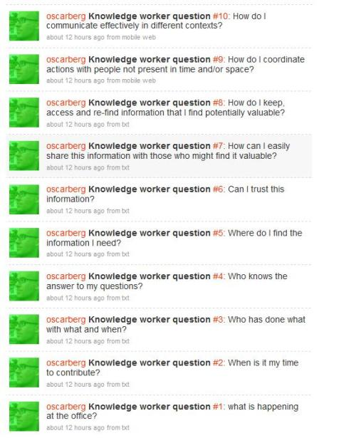 knowledge worker questions